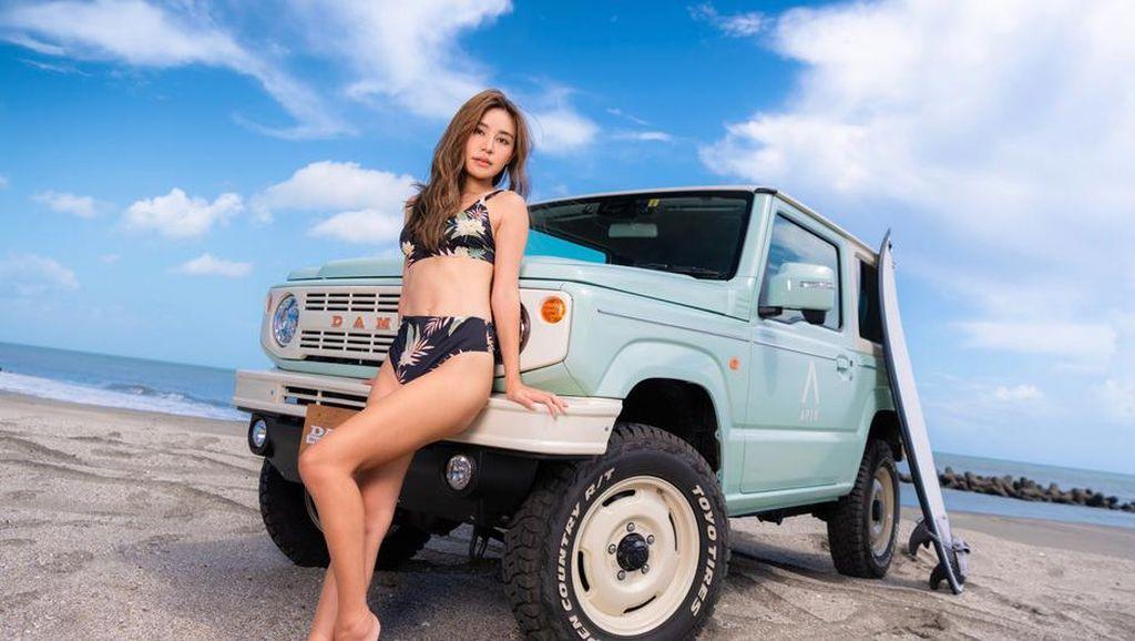 Suzuki Jimny Dimodifikasi Jadi Mobil yang Asyik Diajak Plesiran ke Pantai