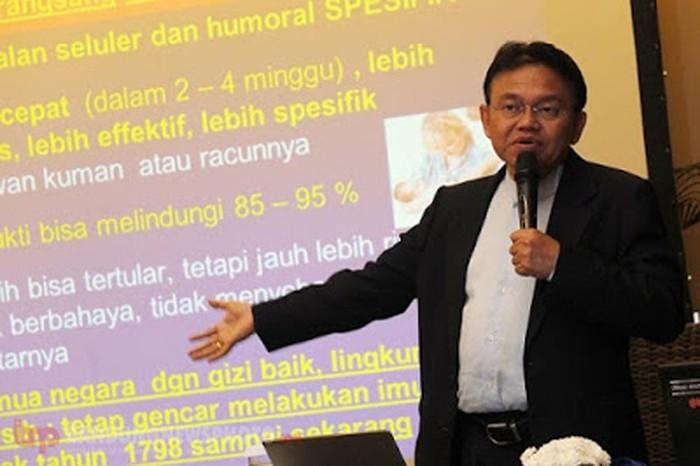 Anggota Komite Penasihat Ahli Imunisasi Nasional Prof. Dr. dr. Soedjatmiko, Sp.A(K)