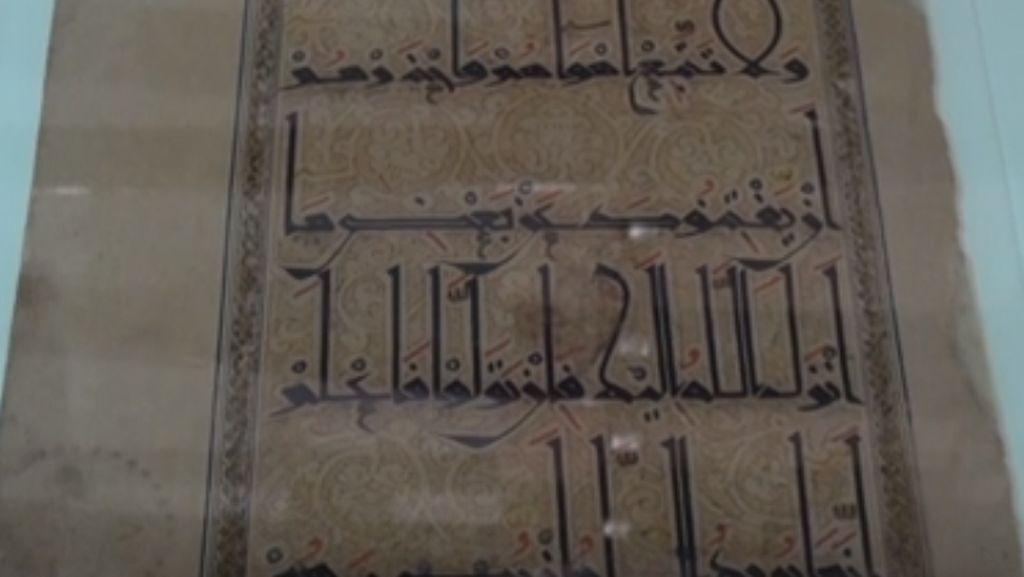 Daun Lembar Al-Quran Periode Awal Dijual di Rumah Lelang London