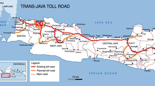 Jalur Peta Tol Trans Jawa