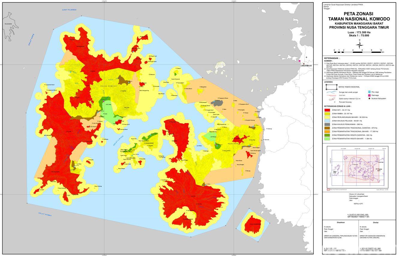 Peta Zonasi Taman Nasional Komodo