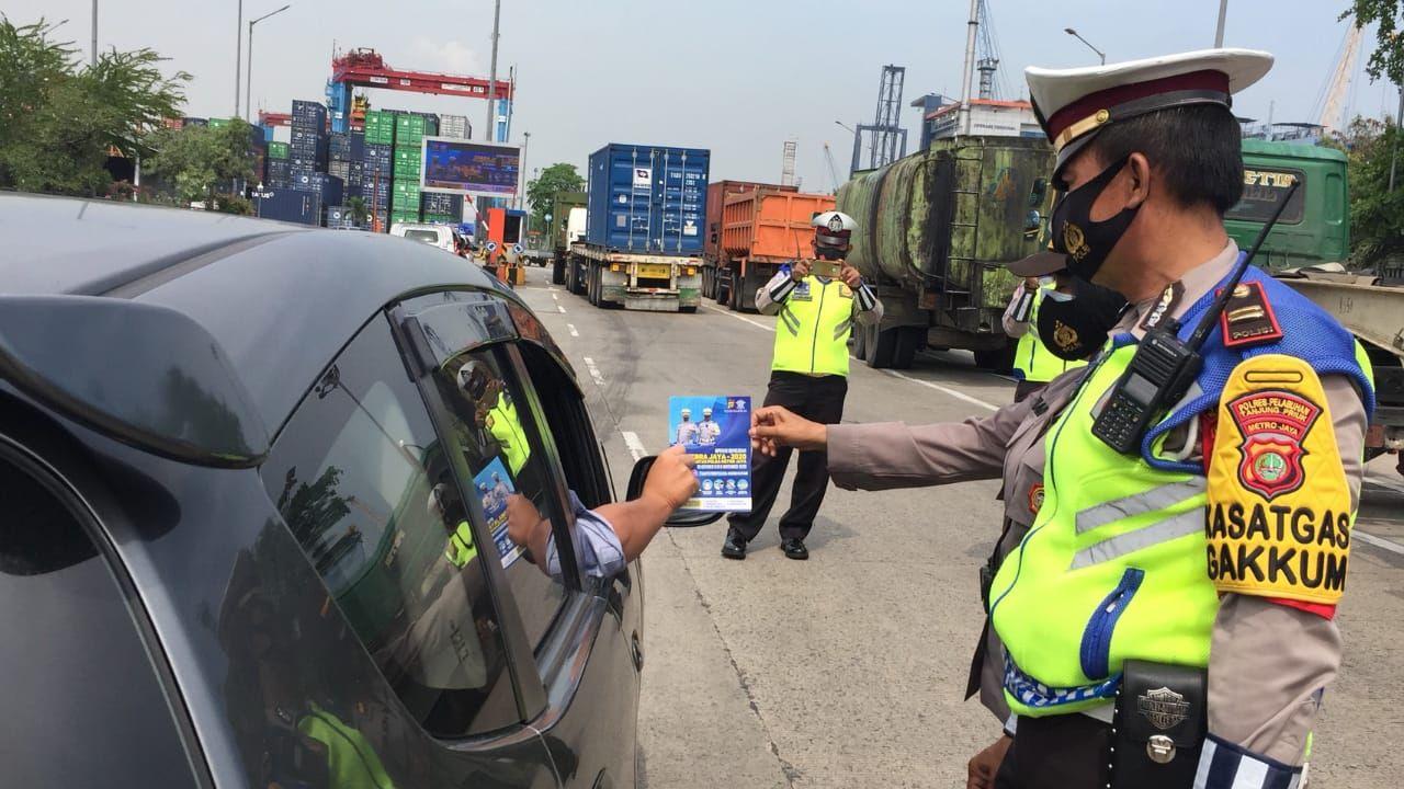 Polres Pelabuhan Tanjung Priok Lakukan Giat Operasi Zebra Jaya 2020
