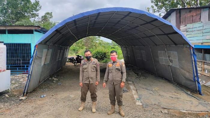 Posko pengecekan COVID-19 di perbatasan Riau (dok. Istimewa)