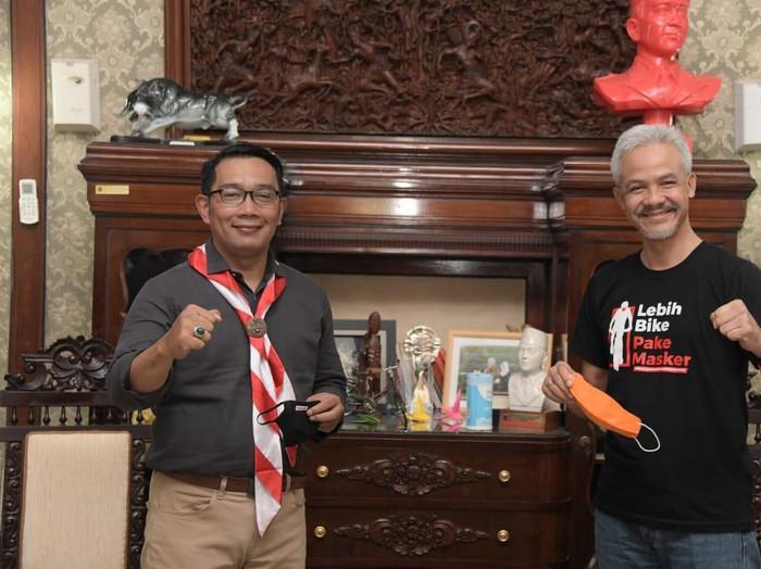 Ridwan Kamil bertemu dengan Ganjar Pranowo