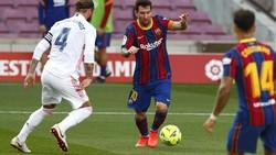 Tekel Andalan Sergio Ramos Bikin Messi Tersungkur