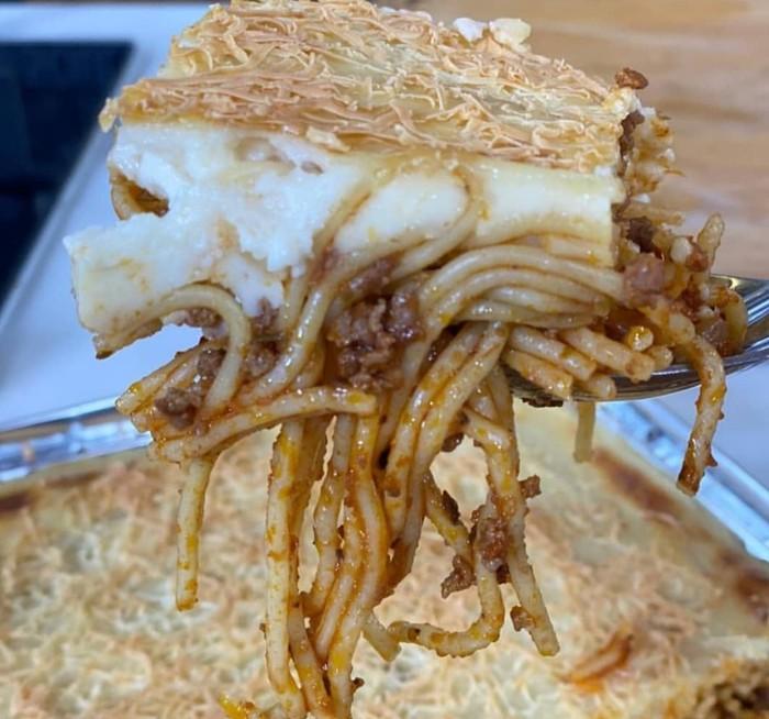 Spaghetti Panggang Saus Bechamel