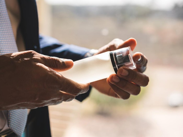Perfume, Males, Spray, Bottle, Hand