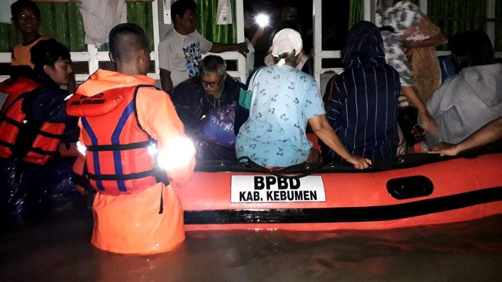 Diguyur Hujan Semalam, Kebumen Kembali Dilanda Banjir dan Tanah Longsor