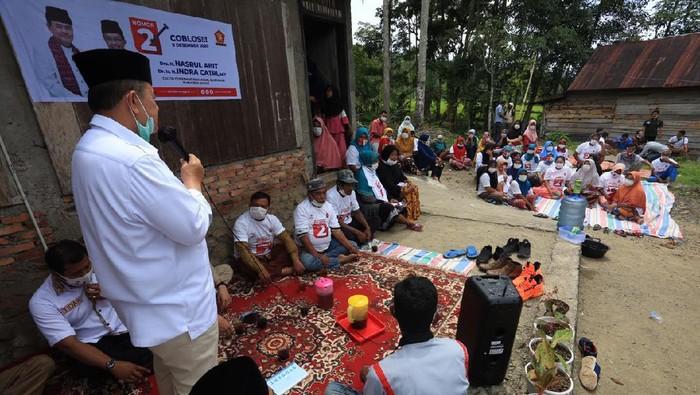 Cagub Sumatera Barat (Sumbar) Nasrul Abit menjanjikan penguatan peran Ninik Mamak di masyarakat Sumbar.