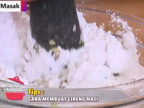 Cara membuat cireng nasi