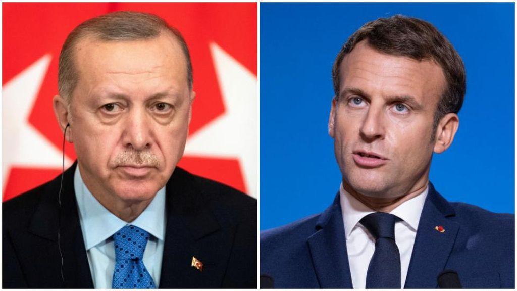 Erdogan Minta Macron Cek Kesehatan Mental Soal Karikatur Nabi