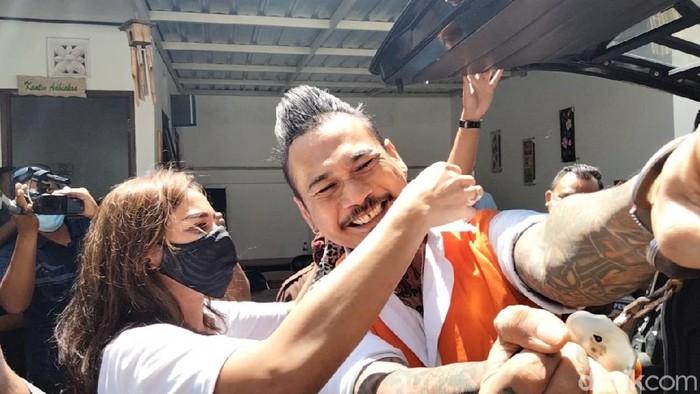 Jerinx SID kembali menjalani sidang kasus IDI Kacung WHO (Angga Riza/detikcom)