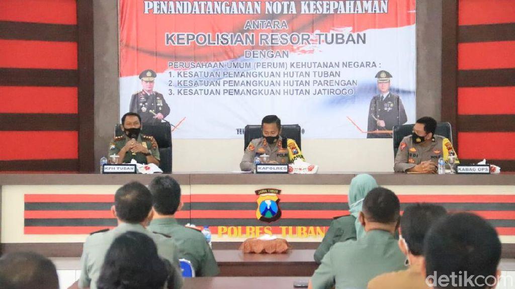 Cegah IIlegal Logging, Perhutani MoU dengan Polisi Tuban