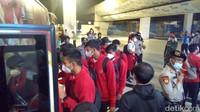 Polres Bandara Soetta Sambut Kedatangan Timnas U-19 dari Kroasia