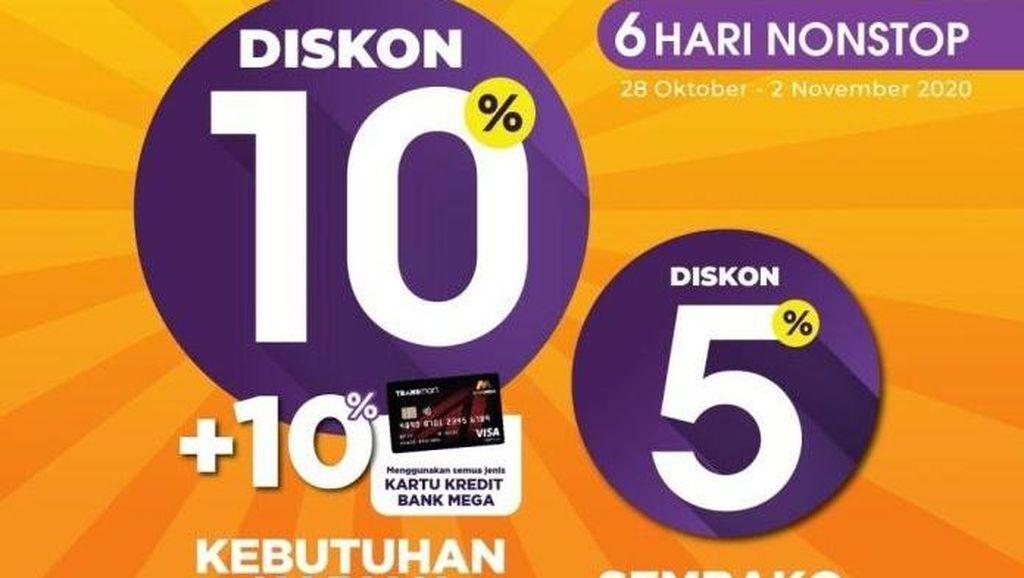 Semua Diskon! Belanja Kebutuhan Harian & Sembako di Transmart Carrefour