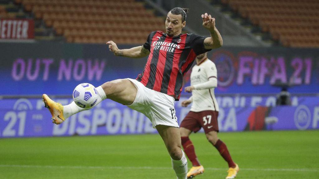 Dua Gol Ibrahimovic Belum Cukup untuk Bawa Milan Menang