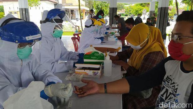 Candi Borobudur test rapid acak, Rabu (28/10/2020).