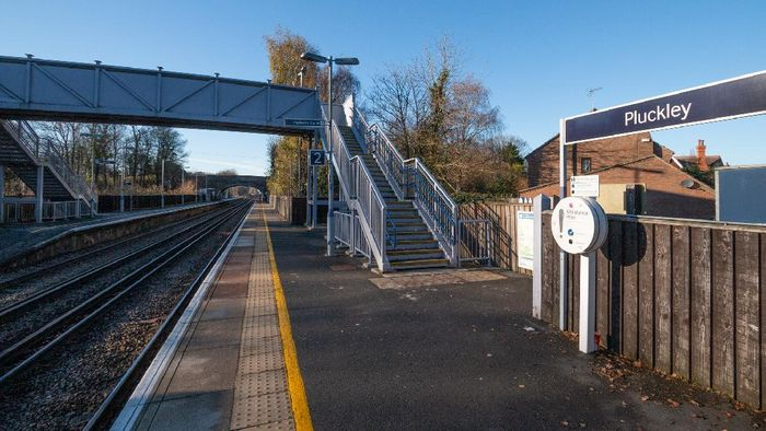 Pluckley Train Station in Kent, England