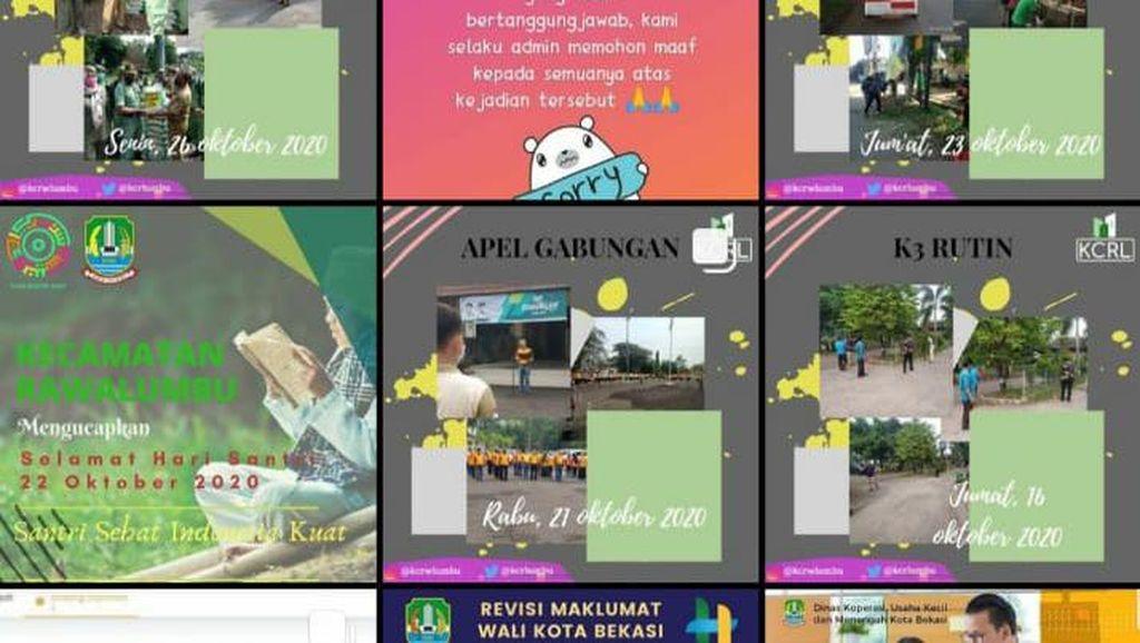 Instagram Kecamatan Rawalumbu Bekasi Di-hack, Foto Profil Diganti Adegan Syur