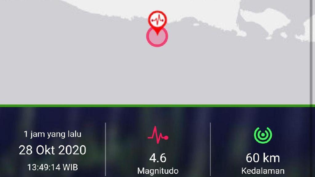 Blitar Diguncang Gempa Magnitudo 4.6, Tak Berpotensi Tsunami