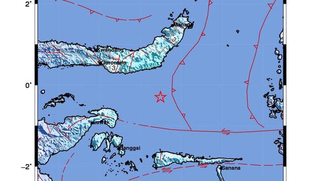 Gempa M 5,7 Guncang Bolaang Uki Sulut, Tak Berpotensi Tsunami