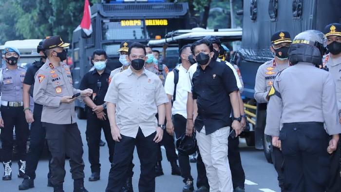 Kabareskrim hingga Kapolda Metro Pantau Demo di Patung Kuda.