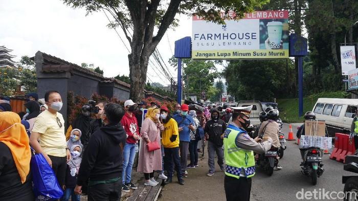 Kawasan wisata Lembang mulai dipadati wisatawan