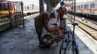 Pegowes Ingin #ParkiruntukSepeda di Stasiun KRL, PT KCI: Sedang Kami Siapkan