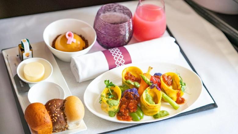 Makanan Vegan Qatar Airways