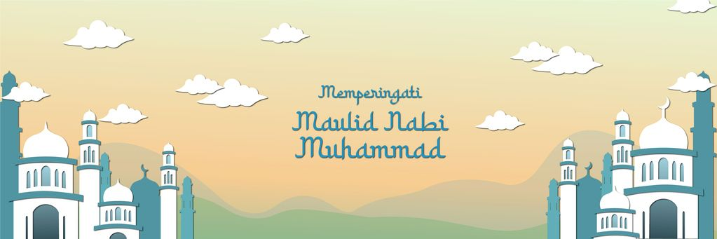 Happy Mawlid al-Nabi Muhammad SAW greeting card