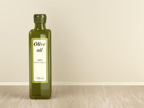 Olive oil bottle in the kitchen