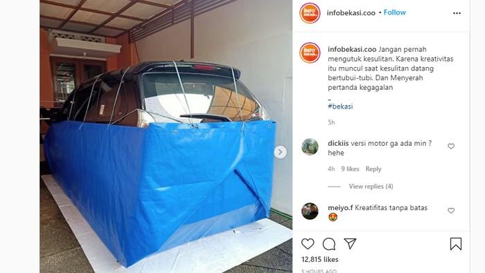 Mobil Anti-Banjir dibungkus terpal