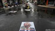 Poster Presiden Prancis Emmanuel Macron Terlindas di Yogyakarta