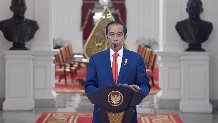 Presiden Jokowi berpidato di Hari Sumpah Pemuda 2020 sekaligus meresmikan stasiun TVRI Papua Barat.