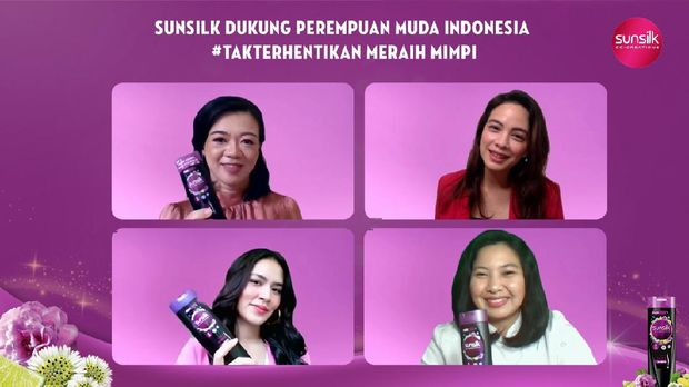 Acara virtual press conference sunsilk