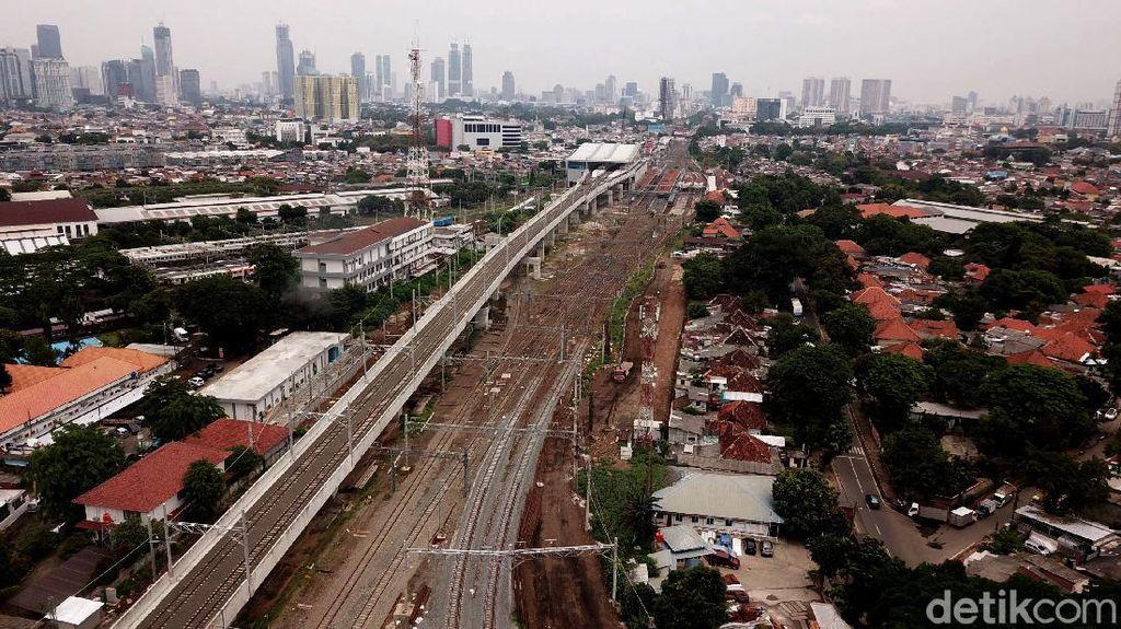 Potret Terkini Proyek Double Track KA Manggarai