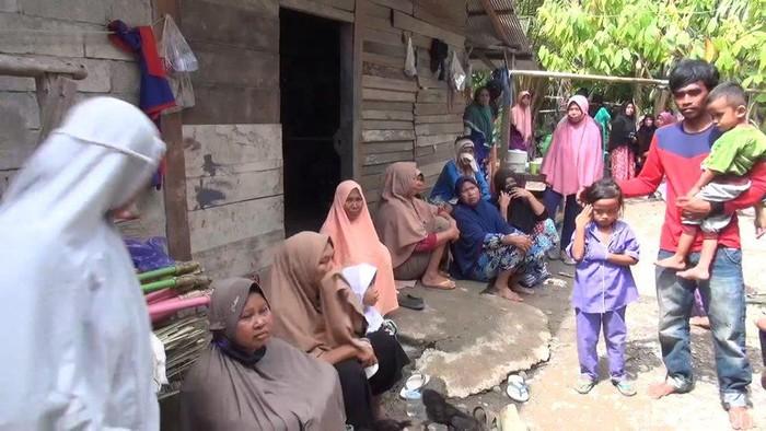 Rumah duka Riska (26), ibu hamil 9 bulan yang meninggal dunia akibat gempa Mamuju (Abdy-detikcom).