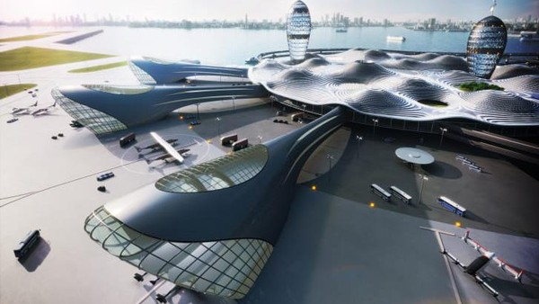 Nantinya, wisatawan bisa melakukan perjalanan sehari ke luar angkasa. Traveler bisa melihat lengkungan bumi dengan gravitasi nol. (Space Port Japan Association, Dentsu, Canaria and Noiz Architects)