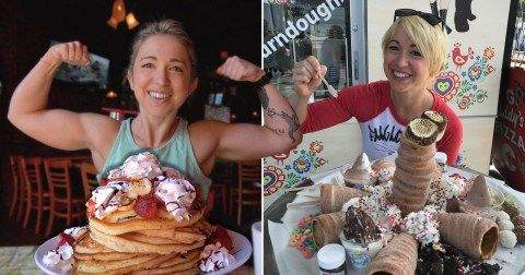 Capek Diet, Wanita Kekar Ini Pilih Jadi Tukang Makan Bayaran