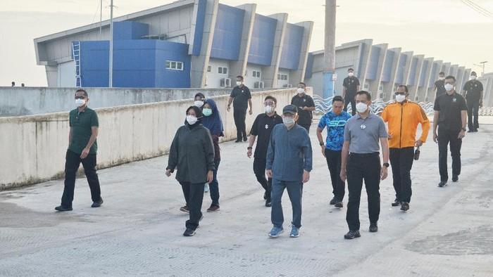 Wapres Maruf Amin jalan santai di Ancol Rabu (28/10) pagi