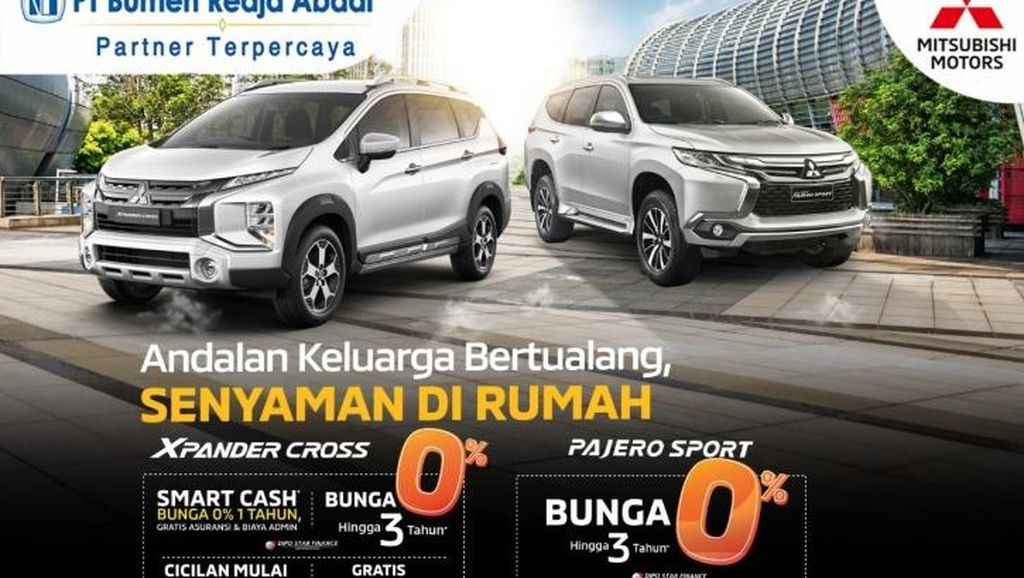 Beli Mitsubishi Xpander Cross & Pajero Sport Cicilan Bunga 0%, Mau?