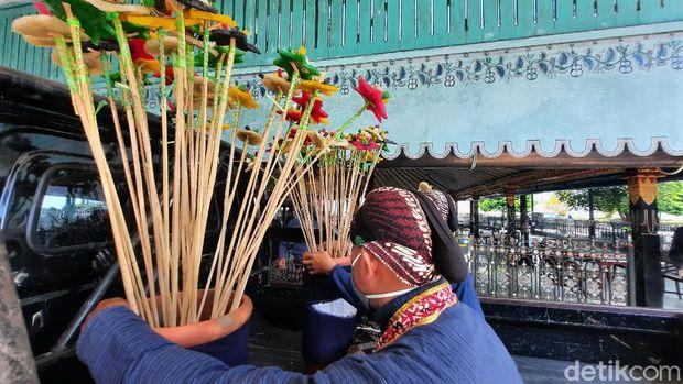 Perayaan Grebeg Maulud di Keraton Jogja, Kamis (29/10).