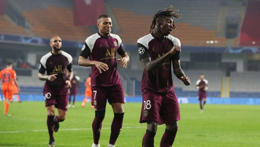 Moise Kean Cetak Brace, PSG Tumbangkan Istanbul Basaksehir 2-0