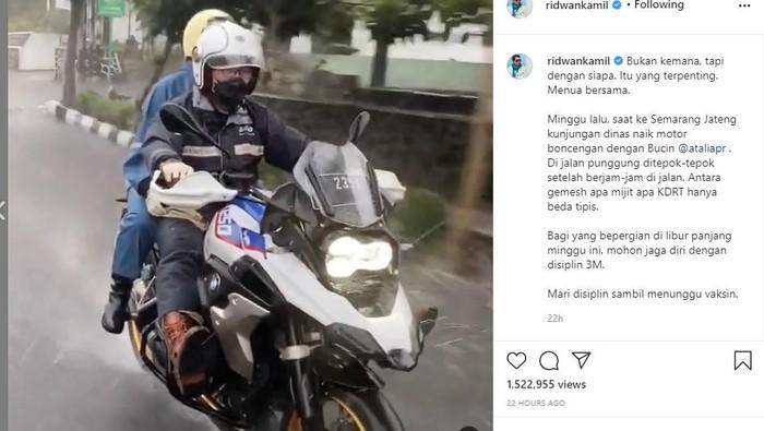 Ridwan Kamil naik moge petualang BMW