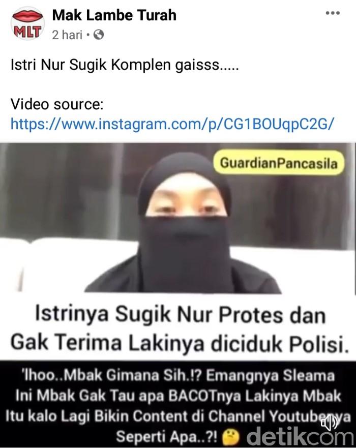 Viral Video Istri Gus Nur Pertanyakan Keadilan untuk Suaminya