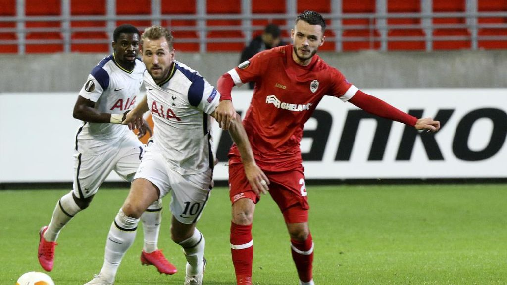 Antwerp Vs Tottenham: Harry Kane Cs Tumbang 0-1