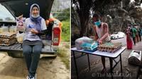 Guru Ini Bagikan Sembako Gratis untuk Murid Tak Mampu, Isinya Beras hingga Telur