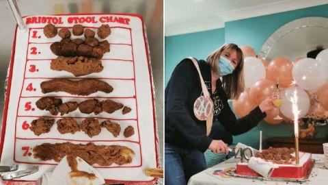 Hii Jijik! Wanita Ini Dapat Kue Ulang Tahun Bentuk Kotoran Manusia