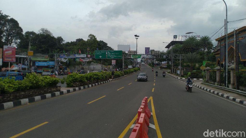 One Way Selesai, Jalur Puncak Bogor Kembali Normal Dua Arah-Lalin Lancar