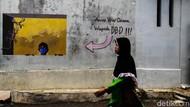 Keren! Gang Bapa Ampi Cimahi Dipenuhi Mural Bahaya COVID-19
